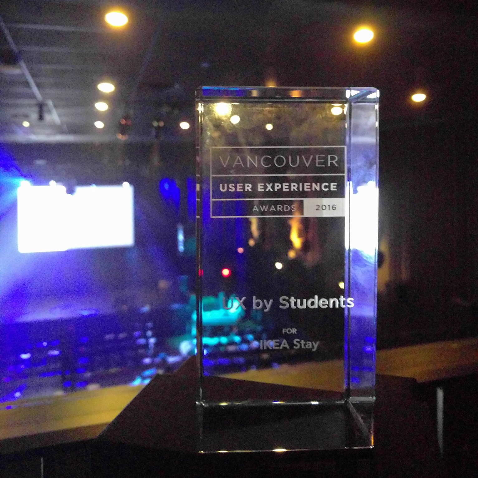 UX by Students award - Vancouver UX Awards 2016. Picture credit: Edward Chen